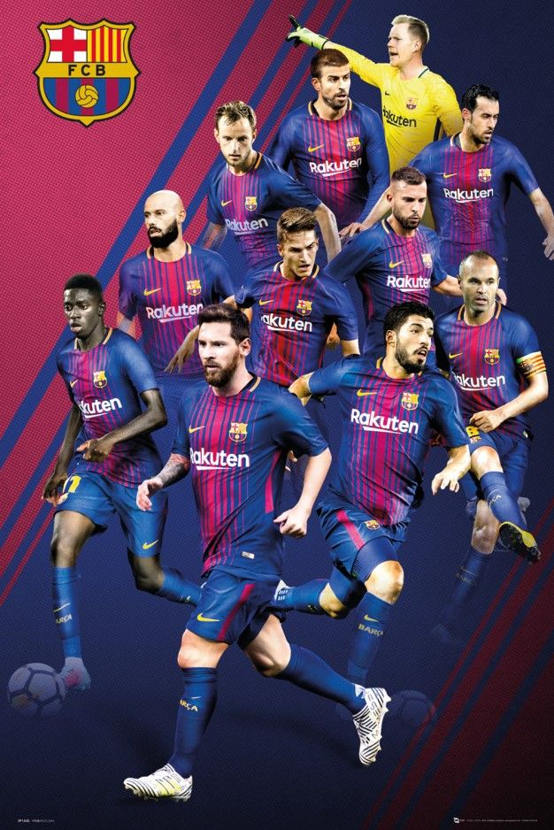 Barcelona Players 17/18 Maxi Poster
