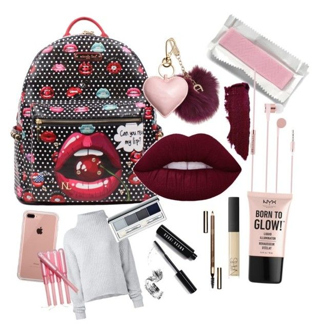 """""""What's in my bag?"""" by tigajiek on Polyvore featuring beauty, Le Kasha, Etienne Aigner, Clinique, NYX, NARS Cosmetics, Clarins, Bobbi Brown Cosmetics and Belkin"""