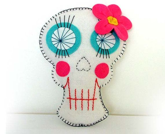 Sugar Skull Plush Day of the Dead Doll