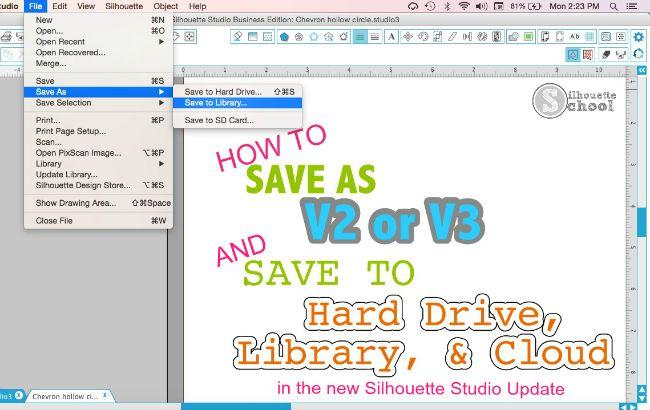 How to Save Designs in New Silhouette Studio Cloud Update | Silhouette School | Bloglovin'