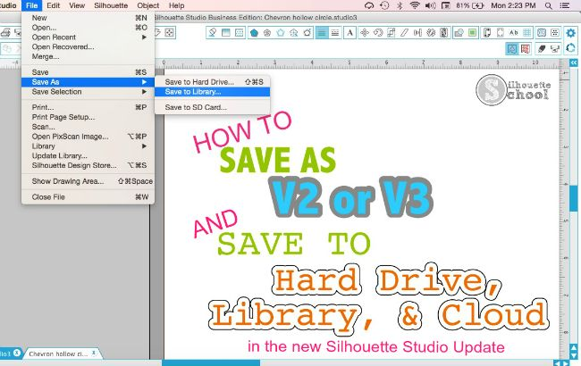 How to Save Designs in New Silhouette Studio Cloud Update | Silhouette School | Bloglovin'