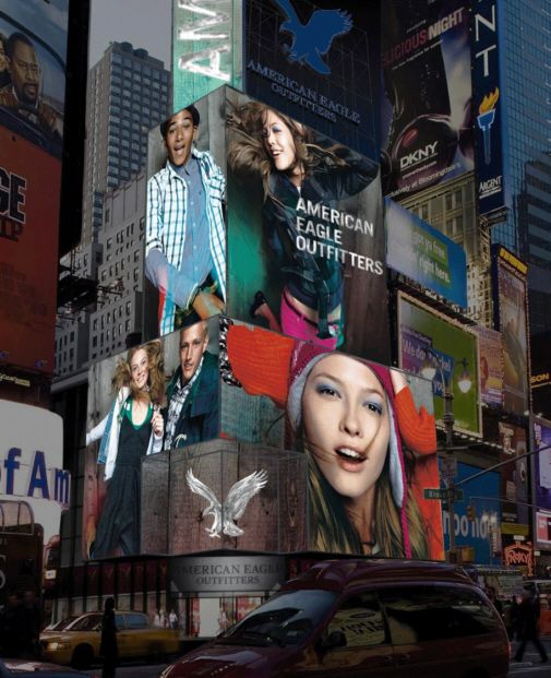 american eagle outfitters. best spectacular in times square!