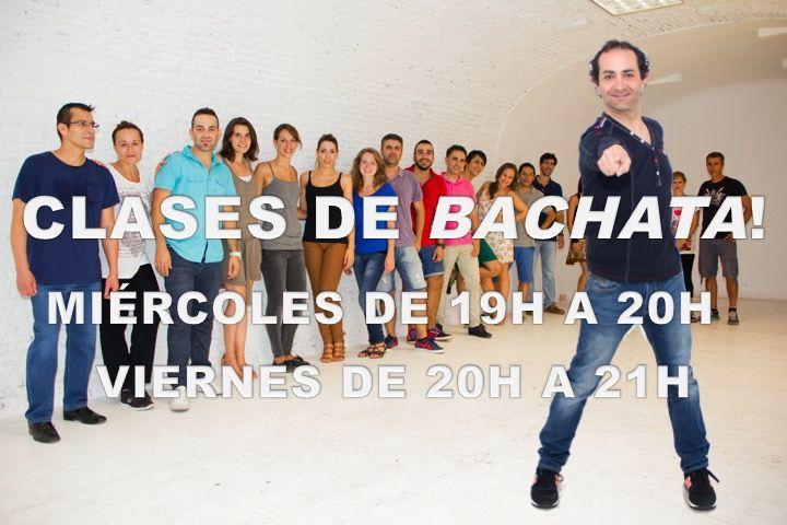 Clases de Bachata los miércoles de 19h a 20h. Viernes de 20h a 21h.
