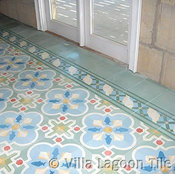 Cement tile guestroom floor, if your looking for inspiration for your floor, just have a look at this great site