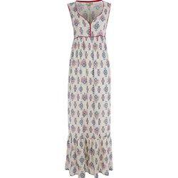 Cream Paisley Contrast Maxi Dress