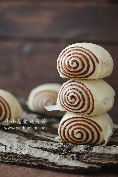 Coco Swirl Steamed Bun