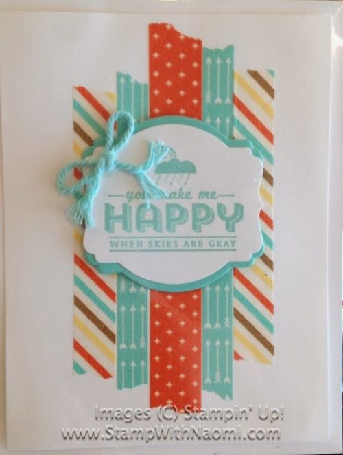 Stampin' Up!, See Ya Later Stamp Set, Pool Party Twine, Retro Fresh Washi Tape, Deco Labels Framelits, Big Shot, Sale-A-Bration