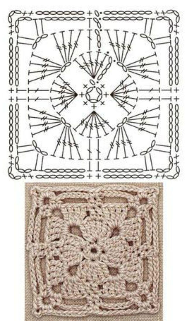 Quadrado De Crochê Passo A Passos E Gráficos Para Baixar Revista Artesanato Quadrados De Croche Padrões De Quadrados De Crochê Quadradinhos De Croche