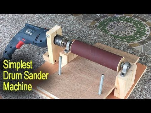 Amazing Simplest Drum Sander Machine DIY – Perfect Woodworking With Tools – YouT…