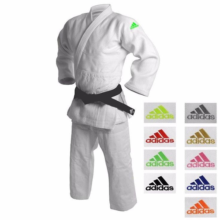 Kimono de judo adidas millenium logo vert fluo