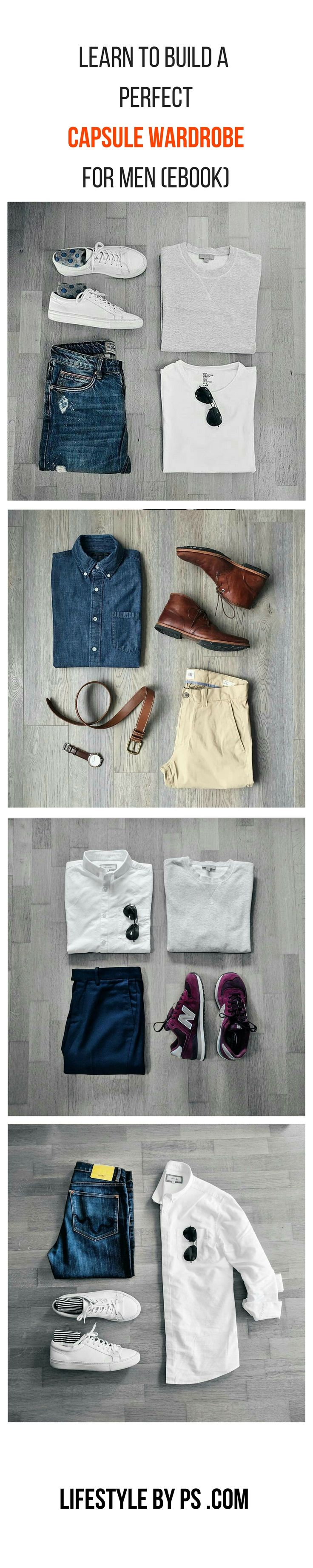 Capsule Wardrobe For men eBook. #mens #fashion #capsule #wardrobe