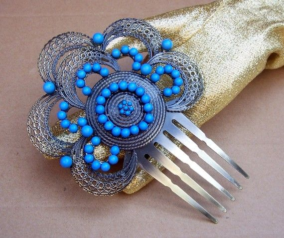 vintage Spanish hair comb  If there is were in green as well that would be totally acceptable to me too