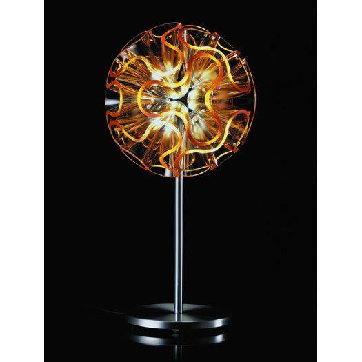 "QisDesign Coral 17.72"" H Table Lamp with Novelty Shade   AllModern"