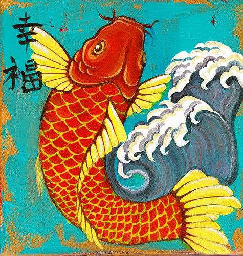 16 best pisces images on pinterest fish pisces and for Japanese koi fish artwork