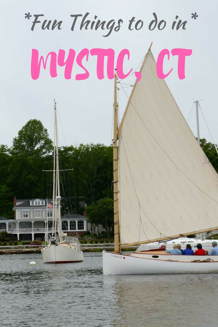 Mystic, CT is one of those classic New England towns by the water that makes for a perfect day trip, overnight or weekend get away from New York City. Popular with family travel and the kids, there is the Mystic Aquarium, seaport, boat rides and more. Here are fun things to do in Mystic. #Mystic #familyvacation #familytravel