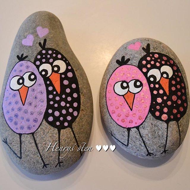 Love Birds-Painted Rocks