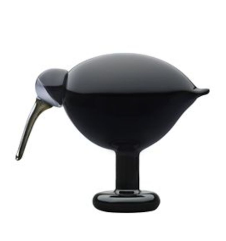 Black Ibis by Oiva Toikka for Iittala birds - £289.00 - mouthblown glass bird 205 x 165mm. From www.shannon-uk.com.