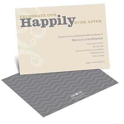 Happily Ever After -- Anniversary Invitations