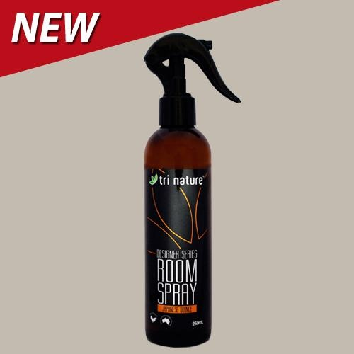 NEW! Room Spray - Japanese Quince, just $9.95.  The unique 2-step action ensures that odours are eliminated quickly and completely, rather than being temporarily masked.  The first action uses a soy based odour neutralising ingredient to rapidly eliminate existing odours.  The second action is adding a delicate burst of fragrant freshness to the air.  Harnessing the indulgence of  pure essential oils, Tri Nature's Designer Series Room Sprays are the pitomy of luxury combined with healthy…