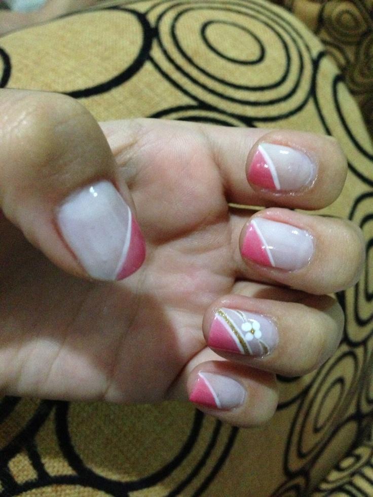 El resultado de la manicura que me hicieron hoy :)