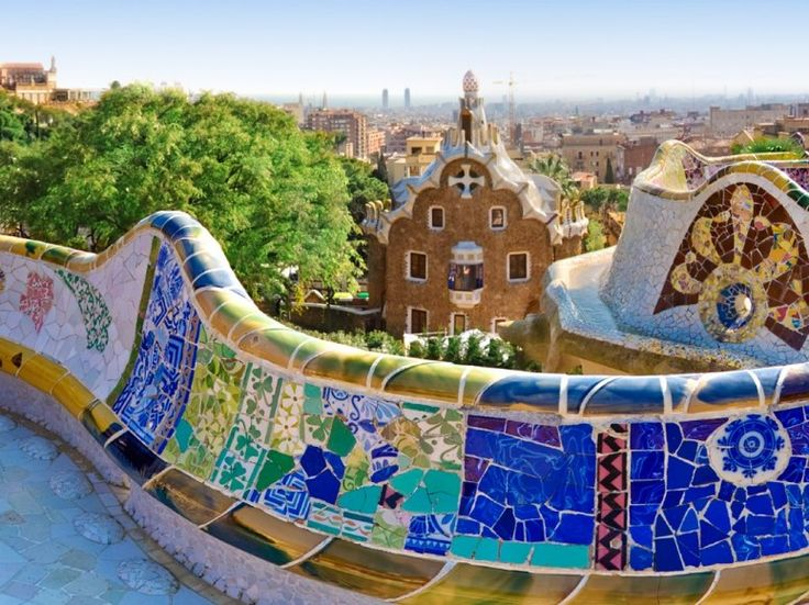 Park Guell, designed by Antoni Gaudi, Barcelona, Spain: Favorite Places, Parc Guell, Travel, Architecture, Barcelona Spain, Gaudi