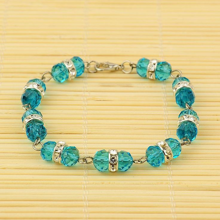 PandaHall Jewelry—Glass Bracelets with Brass Rhinestone Beads | PandaHall Beads Jewelry Blog