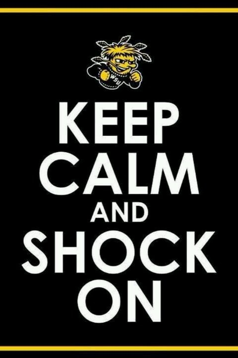 Shockers - Games starts shortly.  Go Shockers!  So proud of you!