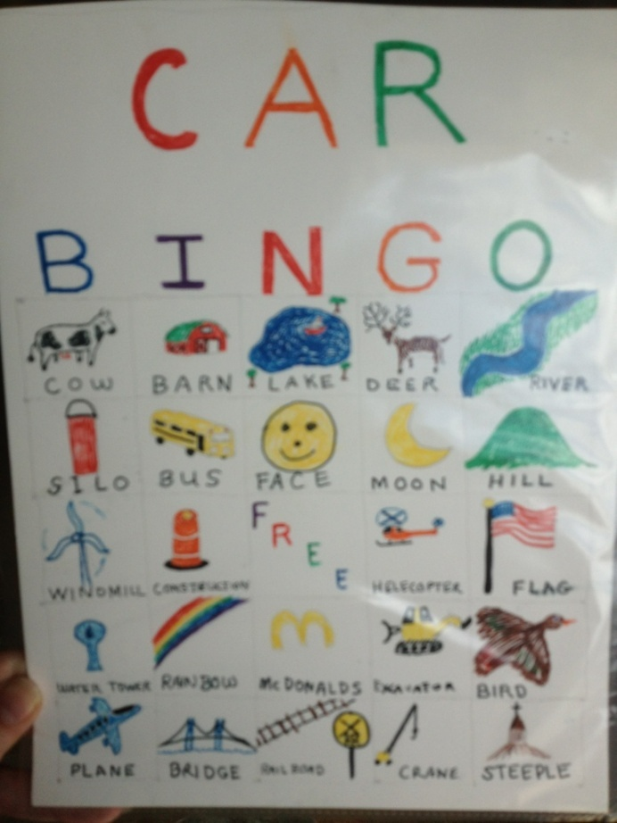 Car Bingo - Keeping the kids busy on a long car ride just got a lot easier...