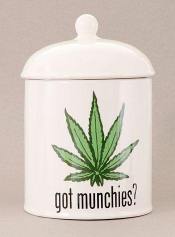 Marijuana Munchies Ceramic Cookie Jar at PLASTICLAND
