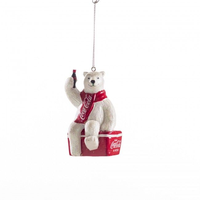 Our Coca-Cola Bear Ornament is a fun addition to your holiday decorating.