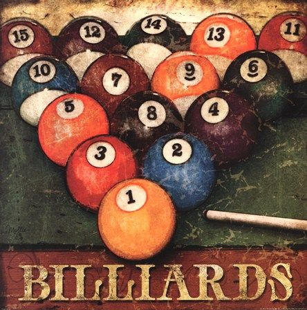 Billiards by Mollie B. art print