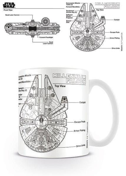 If you love Star Wars then you will love this new mug featuring sketch style imagery of the Millennium Falcon. A great gift for any fans Star Wars fan.