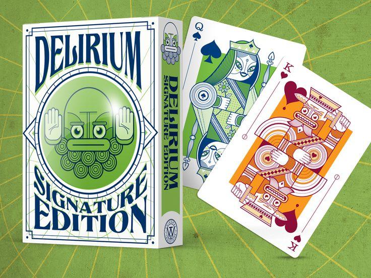 Delirium Signature // https://www.kickstarter.com/projects/thirdwayind/delirium-playing-cards/posts
