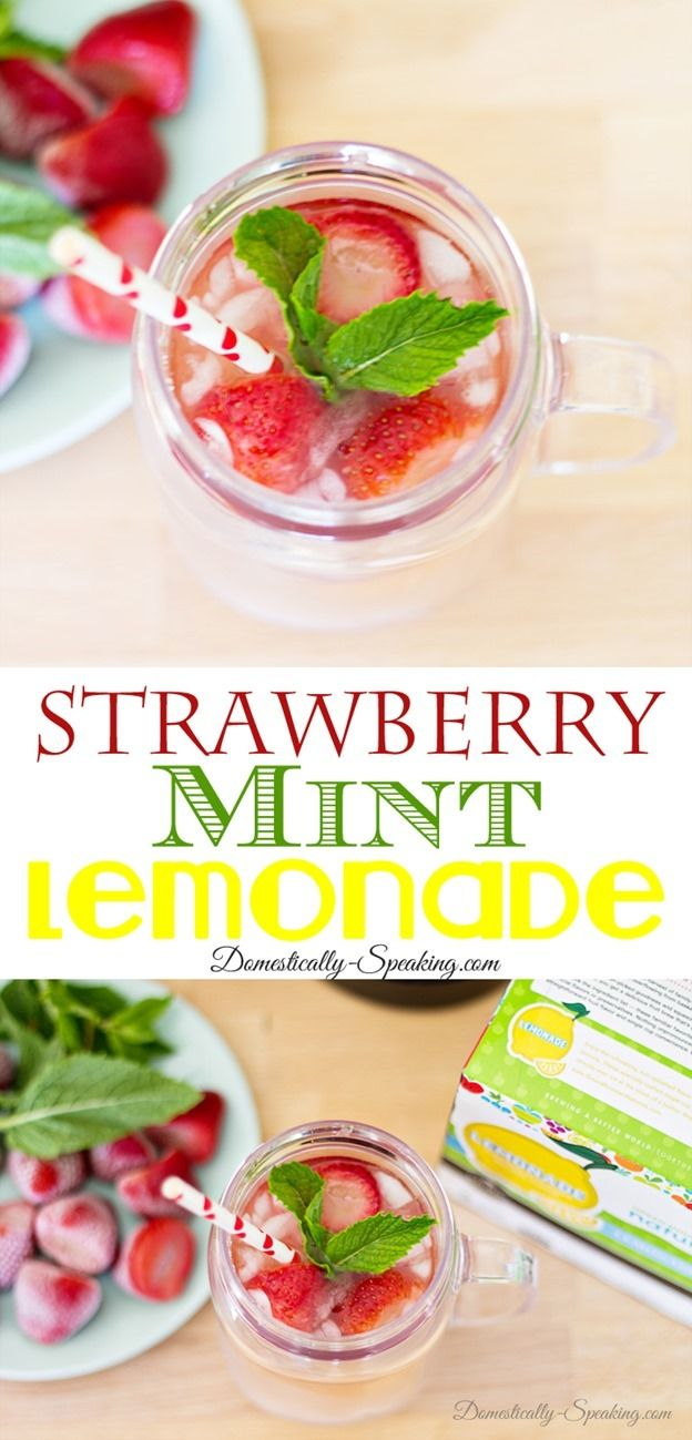 Strawberry Mint Lemonade and Ice Tea Recipe #BrewOverIce, #BrewItUp #shop