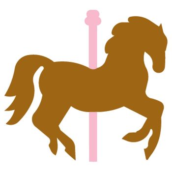 Carousel Horse die cut from accucut