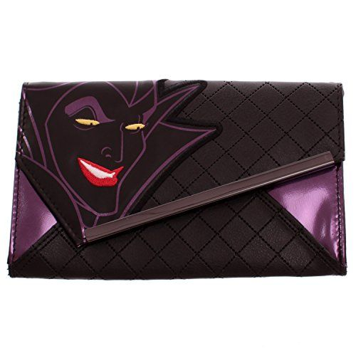 Disney Sleeping Beauty Maleficent Quilted Metallic Envelope Wallet With Chain >>> To view further for this item, visit the image link.
