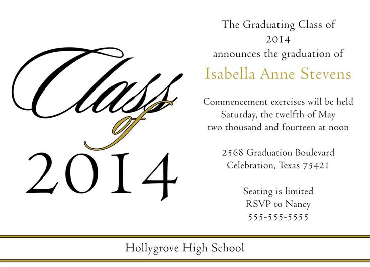 Best Sample Graduation Announcements Images On