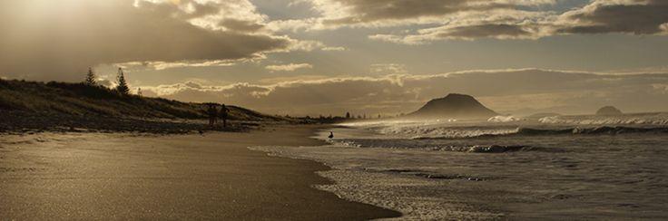 Mount Maunganui à proximité de Tauranga - Bay of plenty #NouvelleZélande #Plage #Montagne