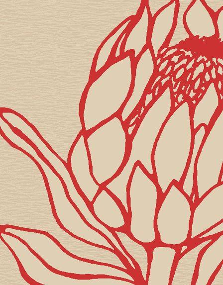 Stunning protea design rug