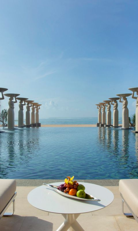 Pool Statues.  The Mulia.   Beyond Villas Bali has a selection of beautiful villas, all over Bali, to suit every style & Budget.