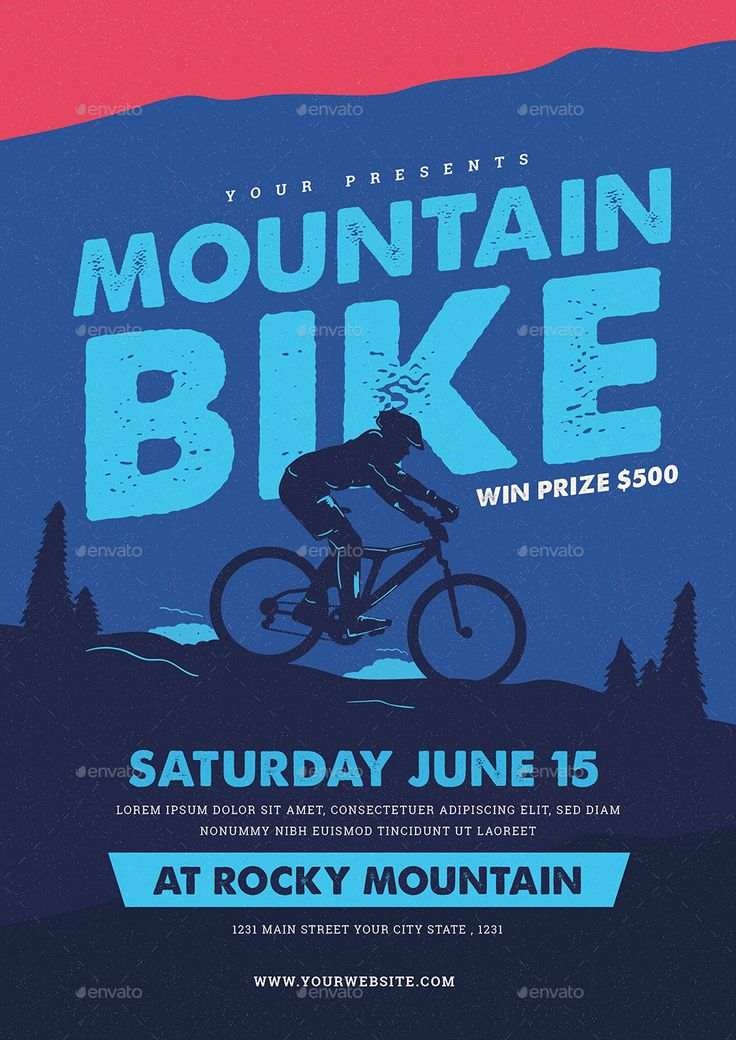 Mountain Bike Event Flyer by guper   GraphicRiver