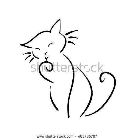 Child's drawing of a cat