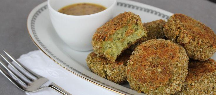 Polpette di broccoli con salsa alla senape