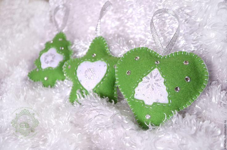 Купить Ёлочные игрушки снежинки - подарки для любимой кухни, кухня, ярко-зелёный, соцветие