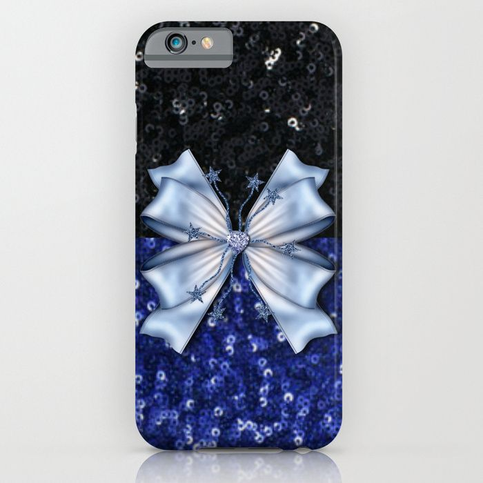 Brilliant Black and Blue  iPhone & iPod Case #society6