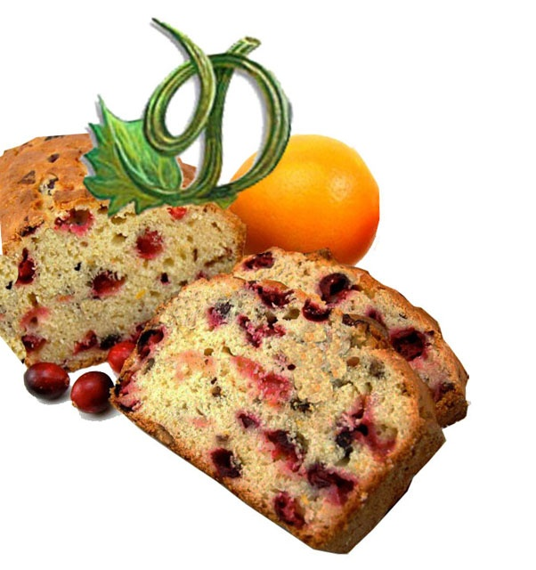Cranberry Bread  www.darcysdelights.com