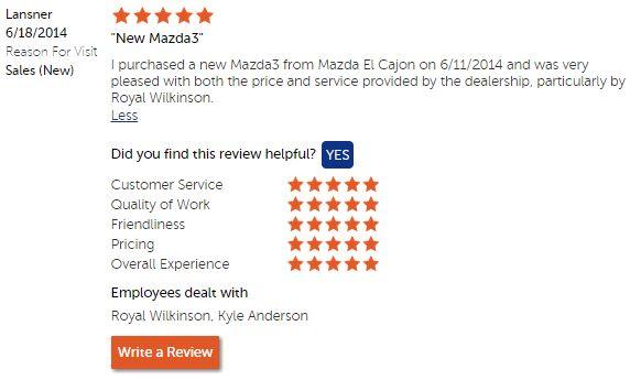 Thank you! #CustomerService #MazdaElCajon