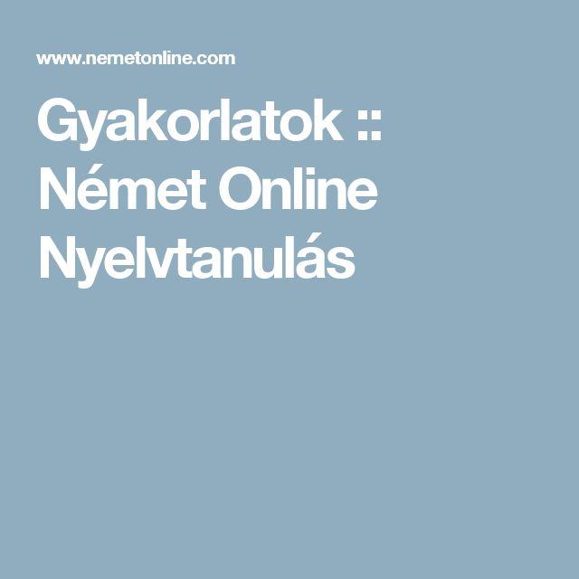Gyakorlatok :: Német Online Nyelvtanulás