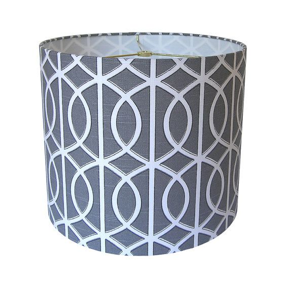 lamp shade lampshade gate by dwell studio for robert allen charcoal gray made to order