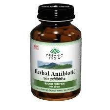 4 Pack Organic India Herbal Antibiotic 60 Capsules Bottle (Total 240 Capsules) for $31.92. Free S/H worldwide email - alldesineeds@gmail.com